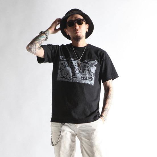 "May club -【WESTRIDE】""WALL OF DEATH"" TEE - BLACK"