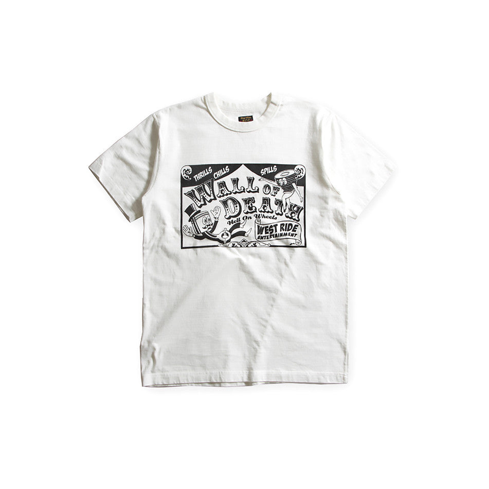 "May club -【WESTRIDE】""WALL OF DEATH"" TEE - WHITE"