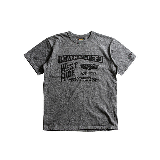 "May club -【WESTRIDE】""CYCLE GOODIES"" TEE - GREY"