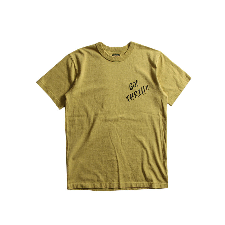 "May club -【WESTRIDE】""GO THRILL"" TEE - MUSTARD"