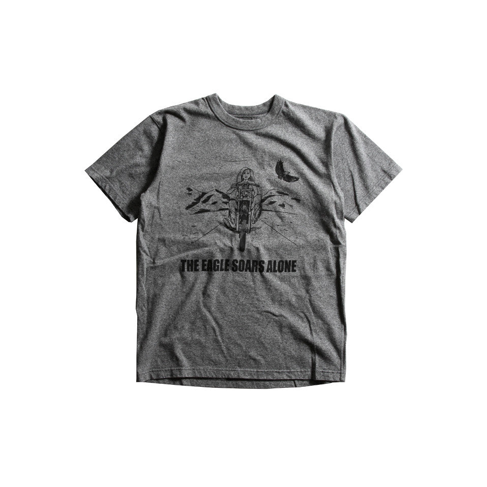 "May club -【WESTRIDE】""THE EAGLE SOARS ALONE"" TEE - GREY"