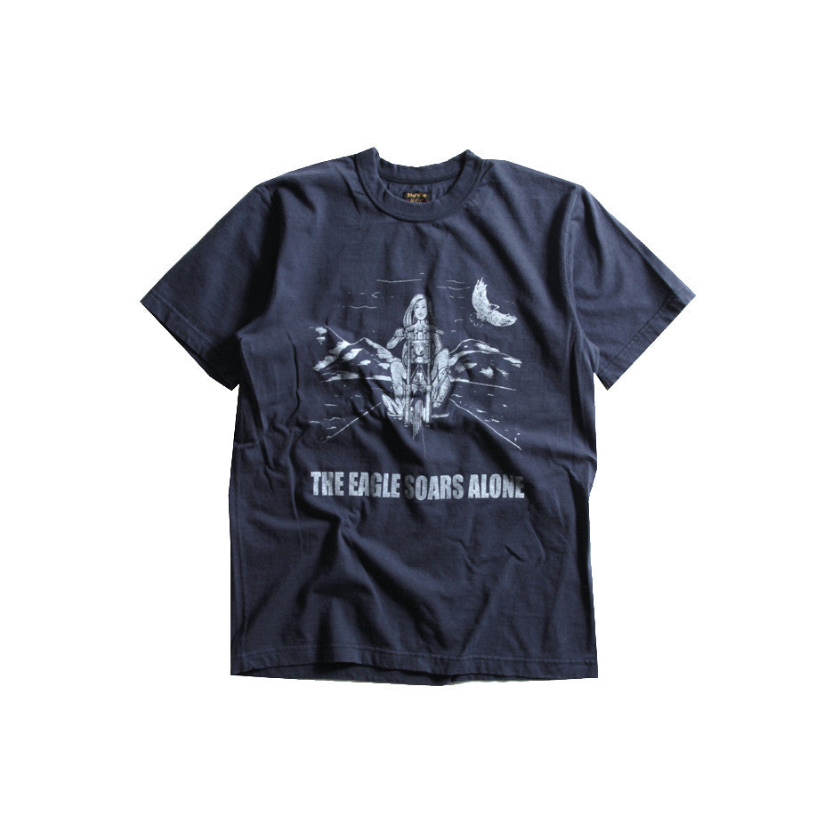 "May club -【WESTRIDE】""THE EAGLE SOARS ALONE"" TEE - NAVY"
