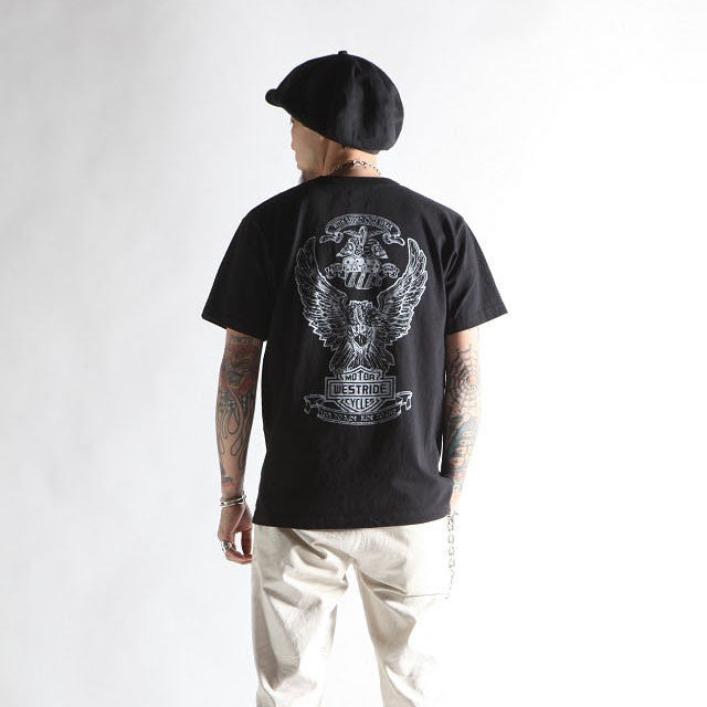 "May club -【WESTRIDE】""1976 HARLEY BICENTENNIAL"" TEE - BLACK"