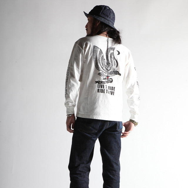 "May club -【WESTRIDE】""LIVE TO RIDE"" LONG SLEEVES TEE - OFF"