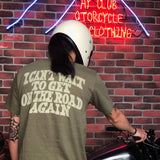 "May club -【WESTRIDE】""ON THE ROAD AGAIN"" TEE - DEEP OLIVE"