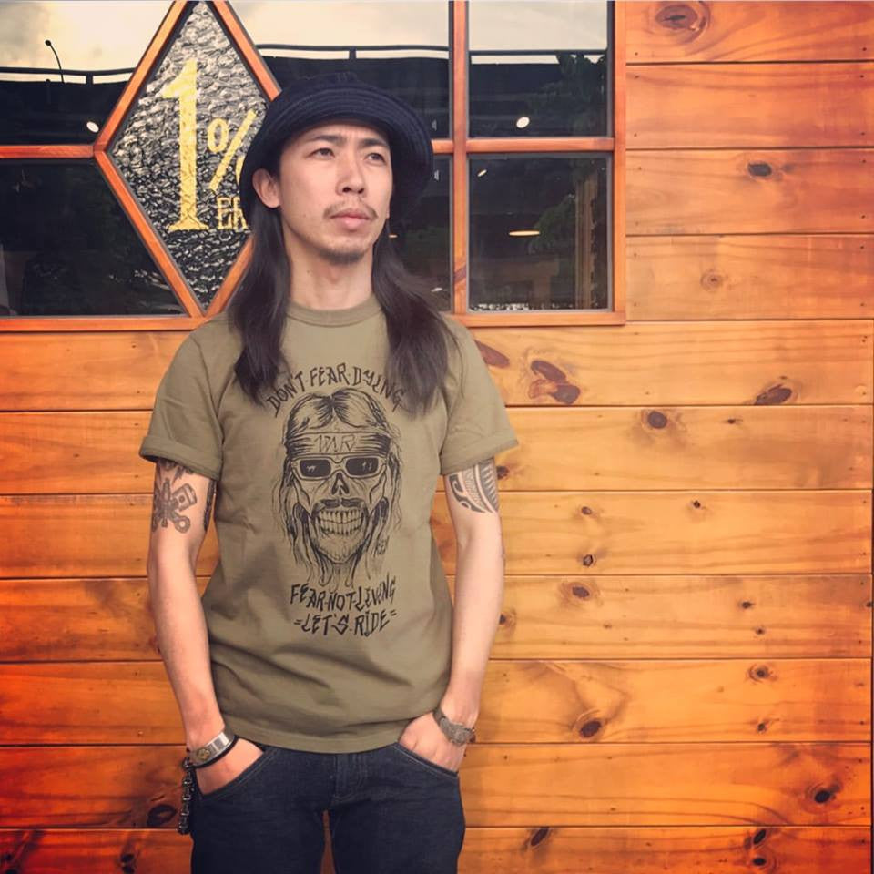"May club -【WESTRIDE】""DON'T FEAR"" TEE - DEEP OLIVE"