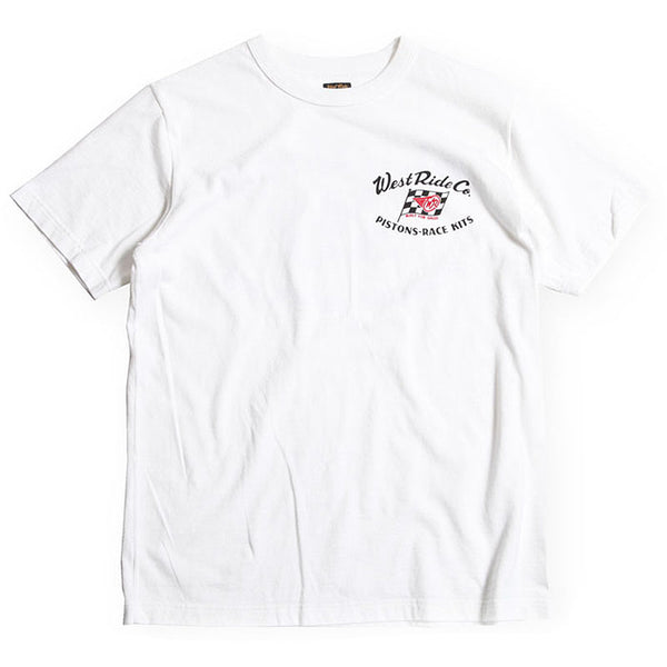 "May club -【WESTRIDE】""WR FLAG"" TEE - WHITE"