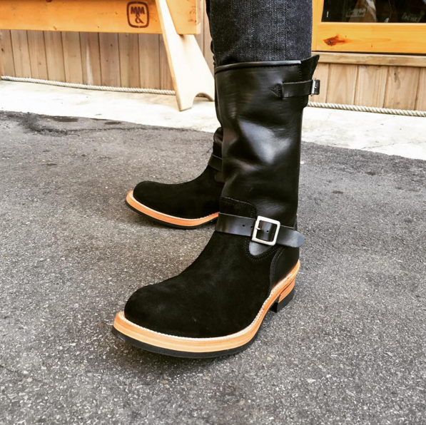 May club -【Addict Clothes】AD-S-01TB ENGINEER BOOTS - BLACK × BLACK