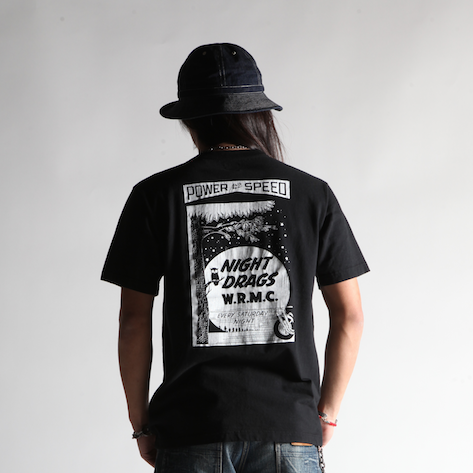 "May club -【WESTRIDE】""NIGHT DRAGS"" TEE - BLACK"
