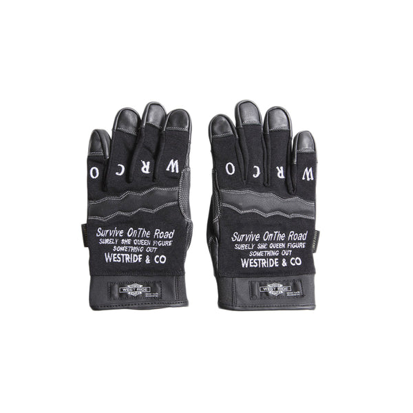 TEXTILE GLOVE - SURVIVE ON THE ROAD(BLACK)