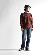 HEAVY BORDER LONG SLEEVES TEE ( 1cm 間隙) - BRK/BLK