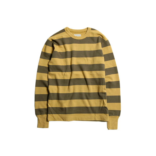 HEAVY BORDER LONG SLEEVES TEE - HNY/FRST
