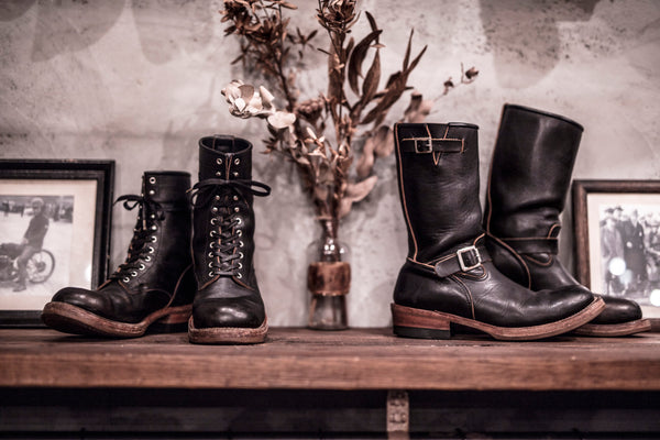 May club -【Addict Clothes】AD-S-01 STEERHIDE ENGINEER BOOTS - BLACK