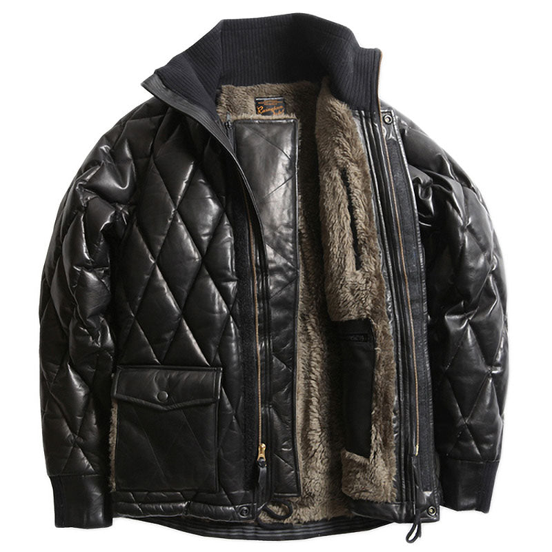 ALL NEW RACING DOWN JKT2 RELAX FIT with WIND GUARD - HORSEHIDE