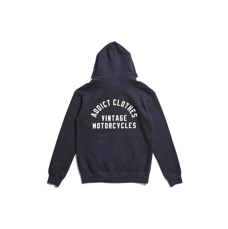 May club -【Addict Clothes】ACV-SWP01 PRINTED ZIP-UP PARKA - NAVY