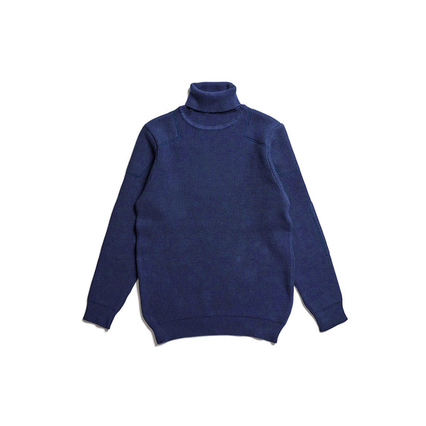 ACV-KN02 PADDED WAFFLE COTTON TURTLE KNIT - INK NAVY