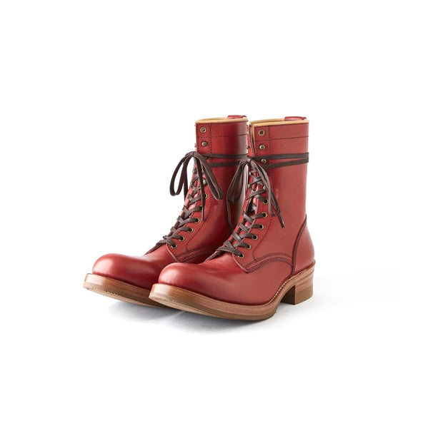 AD-S-02 STEERHIDE LACE-UP BOOTS - RED