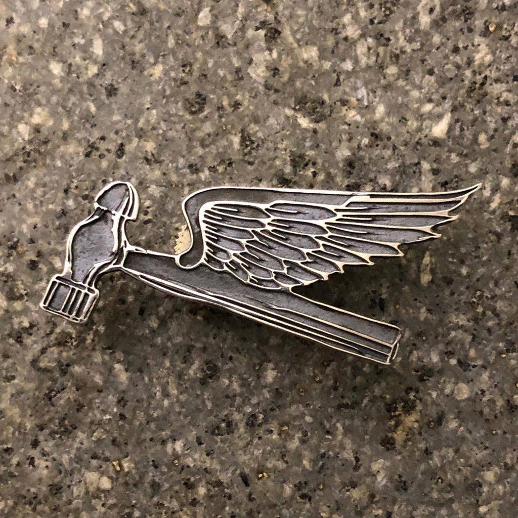 May club -【SHAFT SILVER WORKS】FLYING HAMMER BADGE (S)