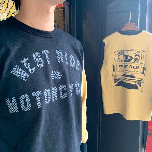 WEST RIDE MC LONG SLEEVES TEE - L.HNY/BLK