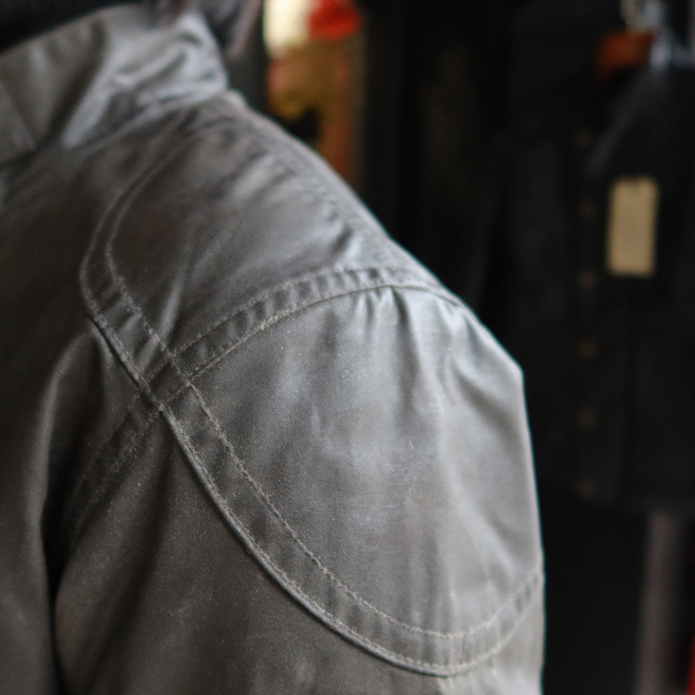 May club -【Addict Clothes】ACV-WX04 WAXED COTTON ULSTER JACKET - KHAKI GREEN