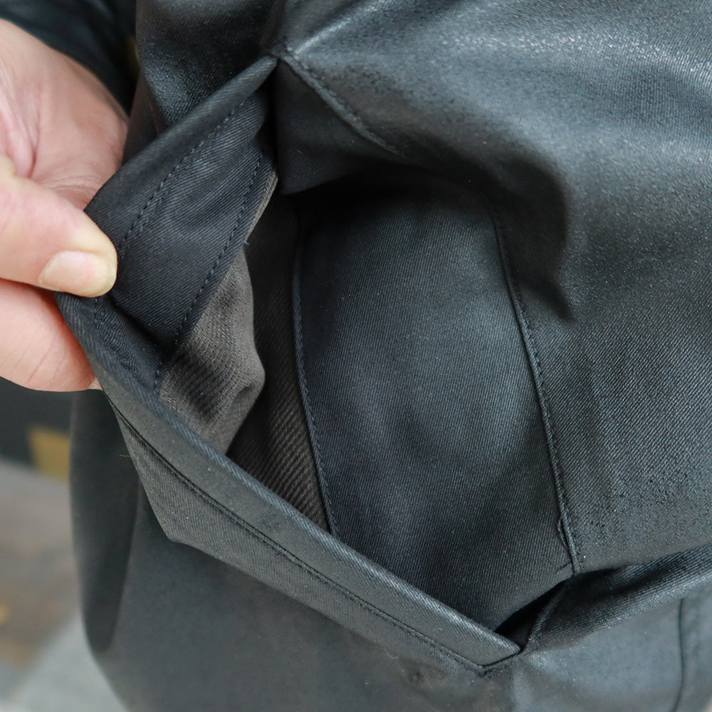 May club -【Addict Clothes】ACV-WX04 WAXED COTTON ULSTER JACKET - BLACK
