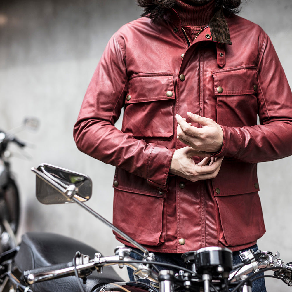 May club -【Addict Clothes】ACV-WXP02 WAXED COTTON BMC JACKET - RED