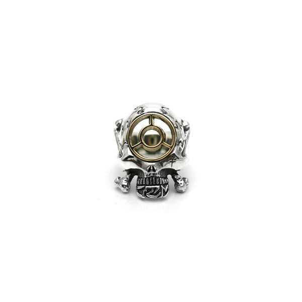 May club -【HWZNBROSS】C.T.M x HWZN MFG. BOMB SIGHT SKULL RING(SILVER x K18)