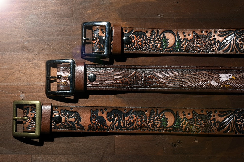 May club -【THE HIGHEST END】LEATHER BELT - EAGLE