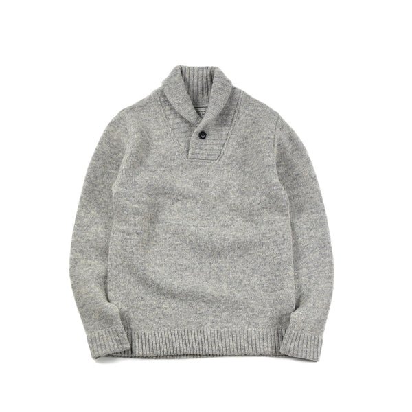 SHAWL COLLAR SWEATER - BEG