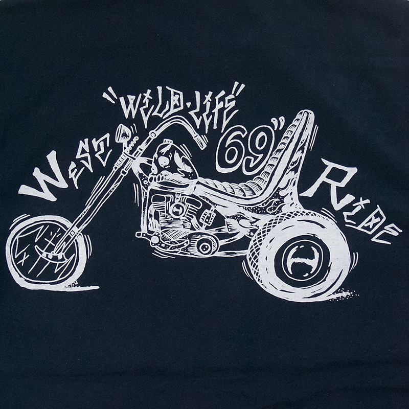 May club -【WESTRIDE】69ER SHIRTS BORDER PRINT