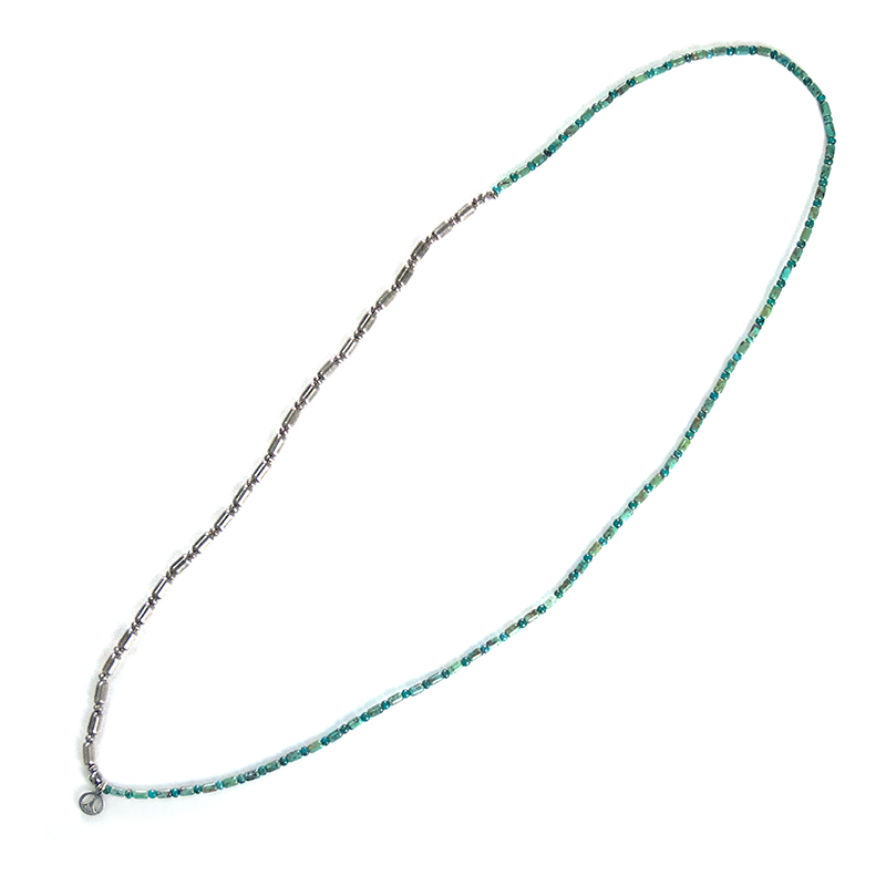 Silver & Turquoise Long Necklace - May club