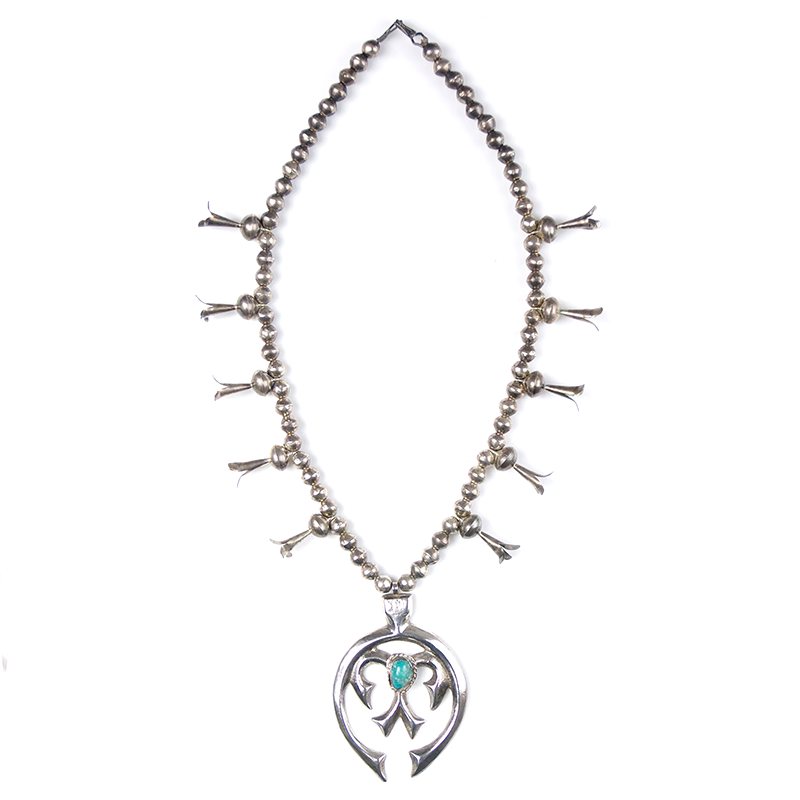 May club -【Navajo】Turquoise Squash Blossom Necklace