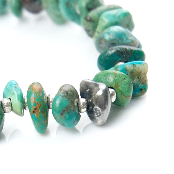 May club -【SunKu】Natural Stone Turquoise Beads & Silver Bracelet