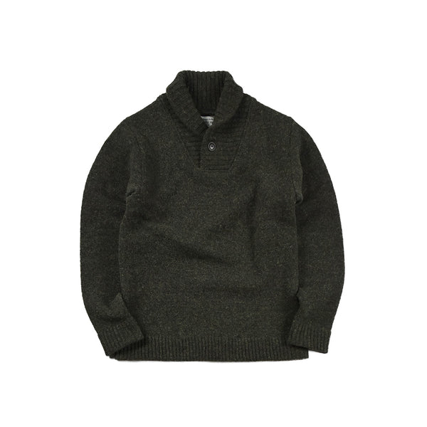 SHAWL COLLAR SWEATER - OLV