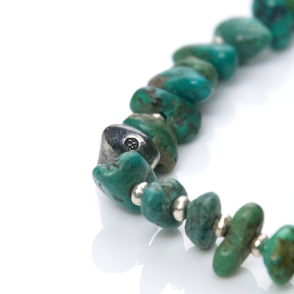 May club -【SunKu】Natural Stone Turquoise Beads & Silver Necklace