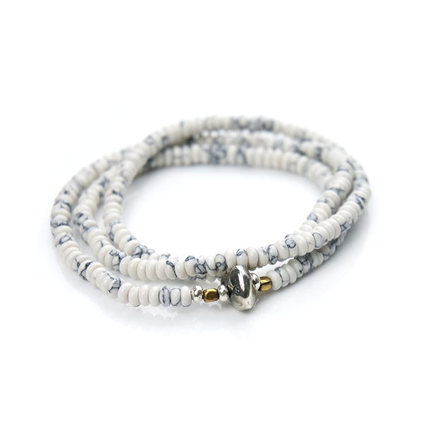 May club -【SunKu】Howlite Beads Necklace & Bracelet
