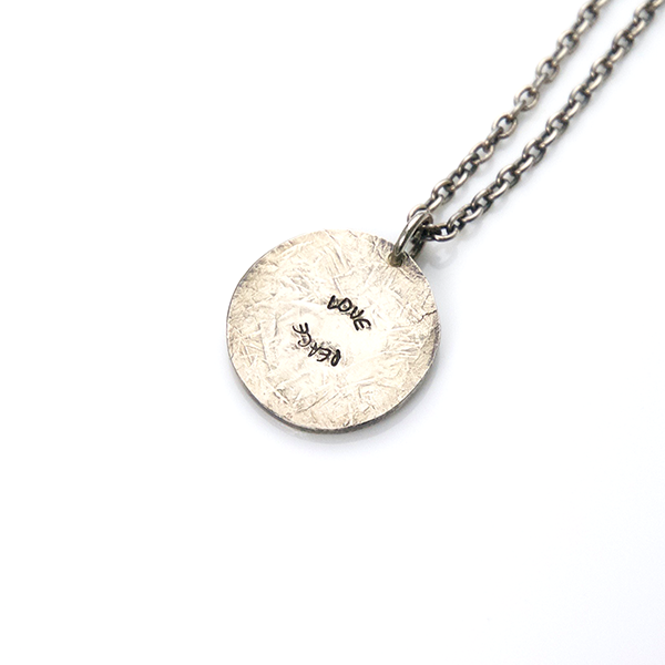 May club -【SunKu】Love & Peace Plate Necklace