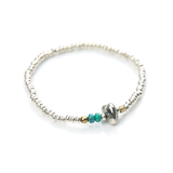 May club -【SunKu】Silver Beads Bracelet