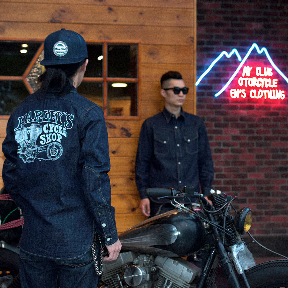 May club -【WESTRIDE】HARLEY'S SHOP SHIRTS - PRINT