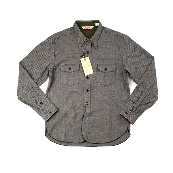 May club -【Trophy Clothing】HOUND'S TOOTH SHIRT
