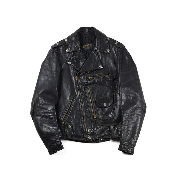 50's BUCO J-24-L D-POCKET STEERHIDE LEATHER MOTORCYCLE JACKET