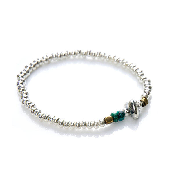 Silver Beads Bracelet(M Beads) - May club