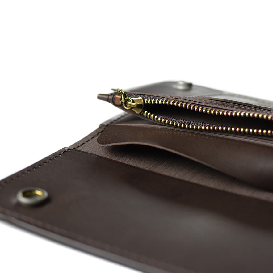 May club -【WESTRIDE】SWASTIKA BIKERS WALLET - Brown