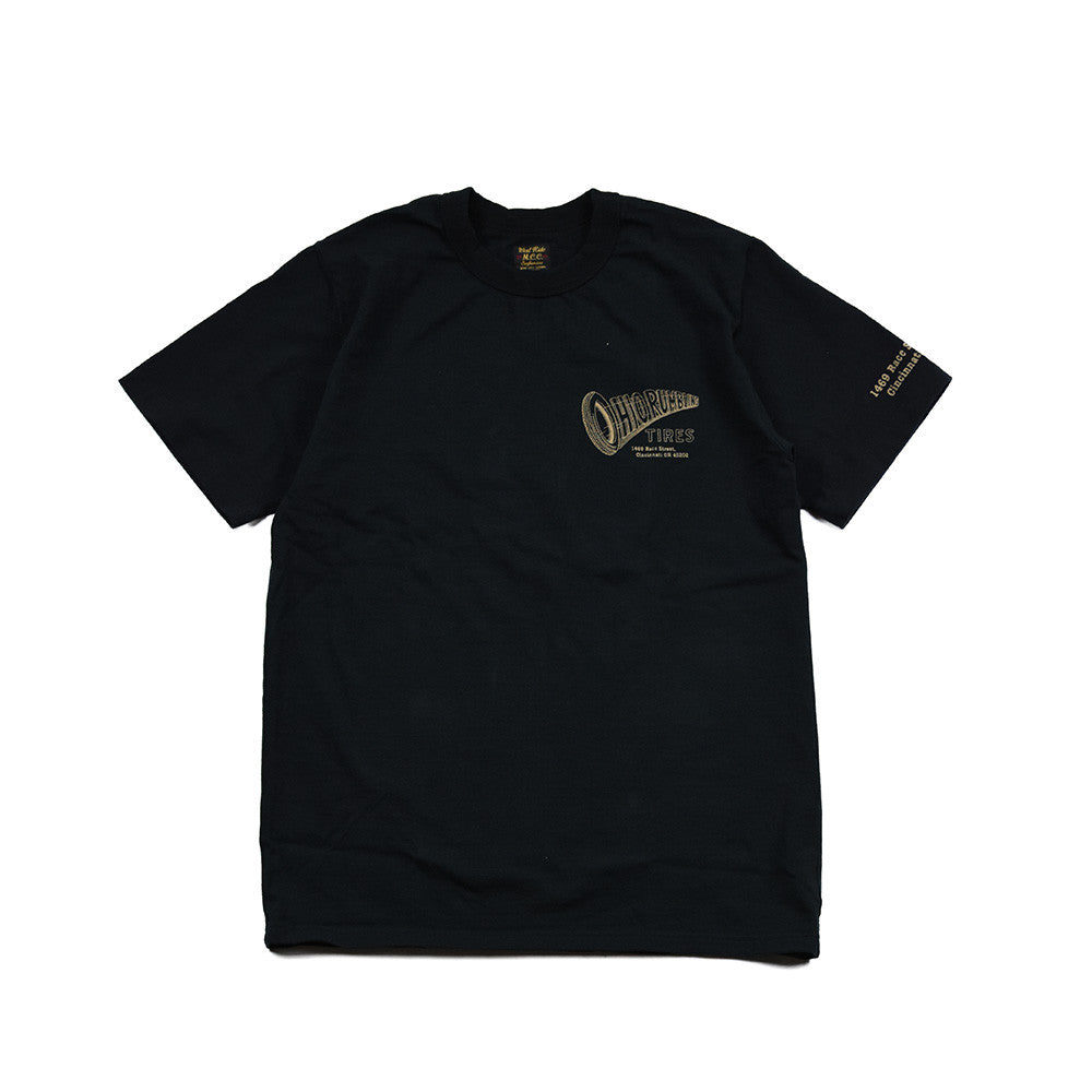 "May club -【WESTRIDE】""OHIO RUMBLING TIRES"" TEE - BLACK"
