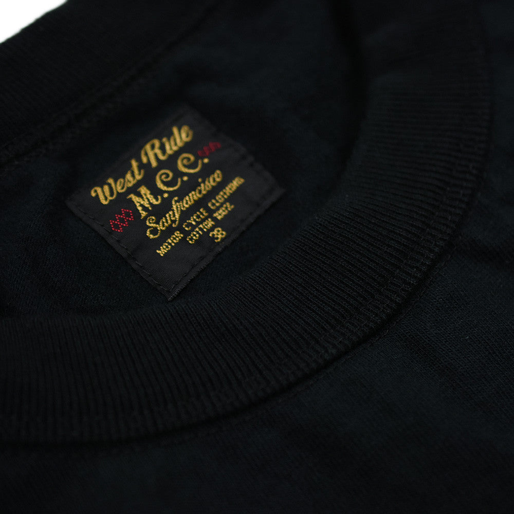 "May club -【WESTRIDE】""HARLEY'S CYCLE SHOP"" TEE - BLACK"