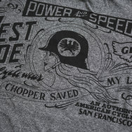 "May club -【WESTRIDE】""POWER AND SPEED"" TEE - GREY"