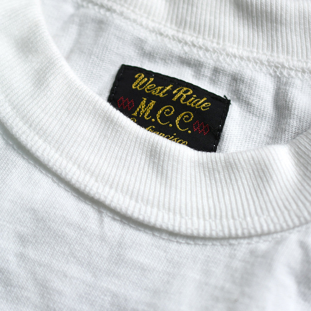 "May club -【WESTRIDE】""THE EAGLE SOARS ALONE"" TEE - WHITE"