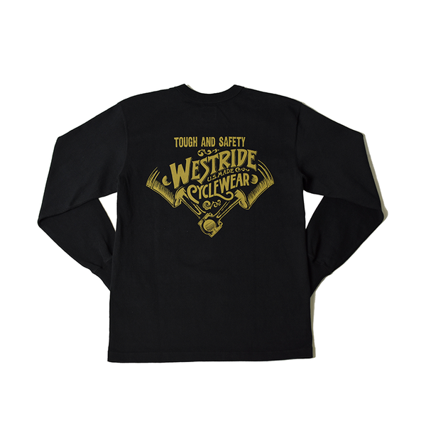 May club -【WESTRIDE】PISTONS LONG SLEEVES TEE