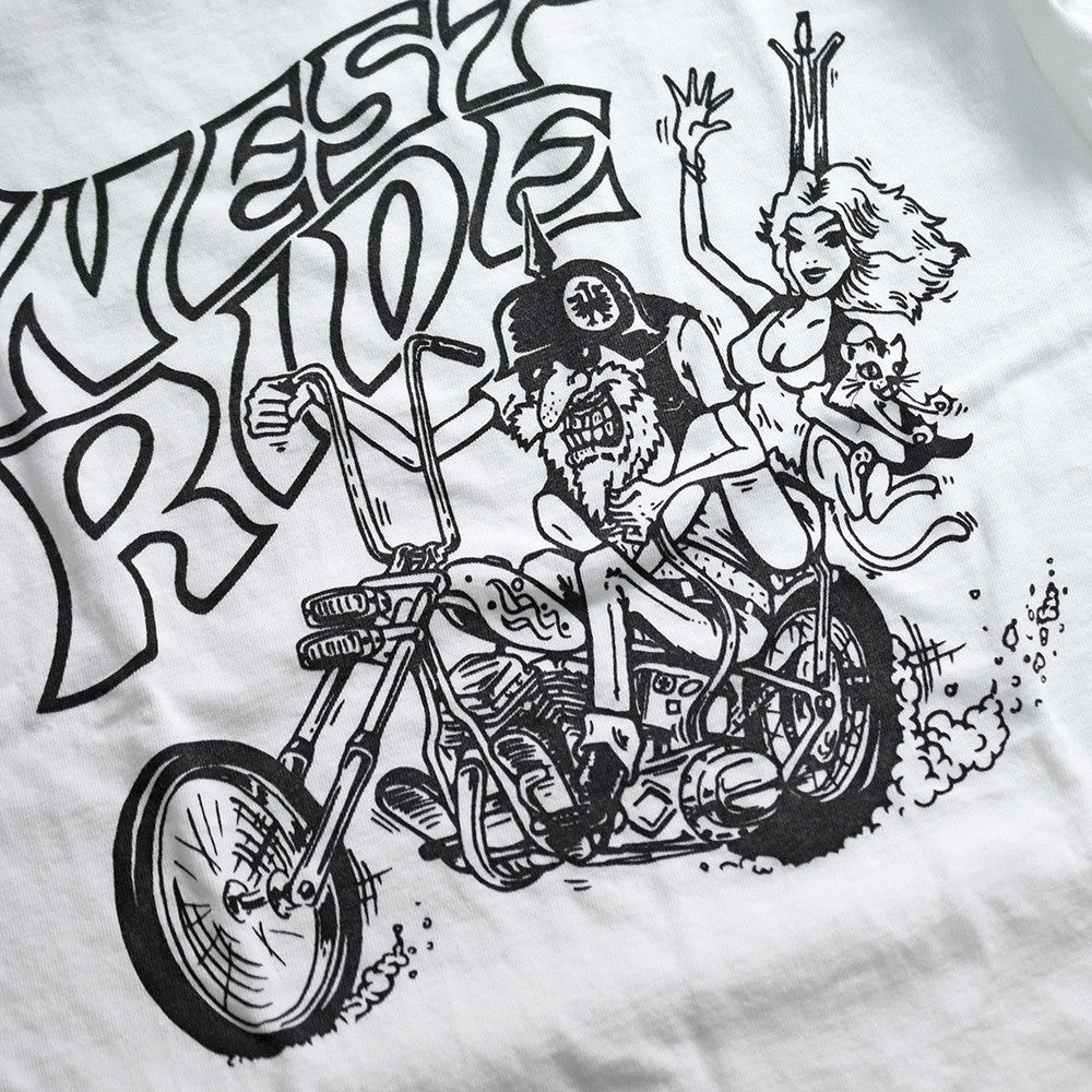 "May club -【WESTRIDE】""UNCLE CHOPPER"" TEE - WHITE"
