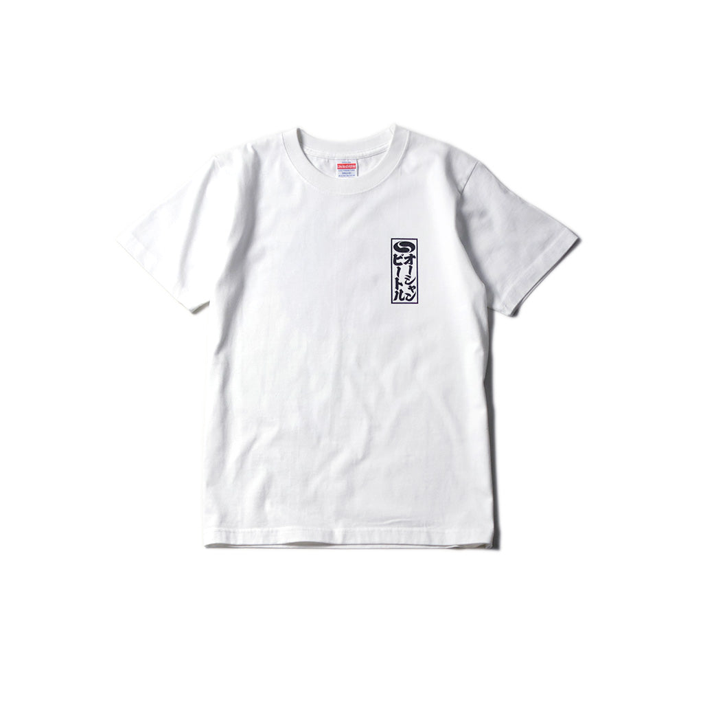 May club -【OCEAN BEETLE】SAFETY FIRST TEE - WHITE